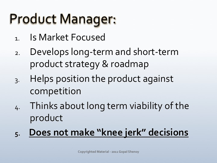 ... Role Of A Product Manager. In ...
